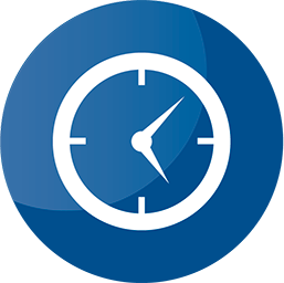 blue icon clock