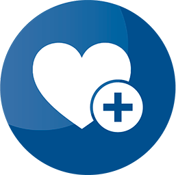 blue icon heart